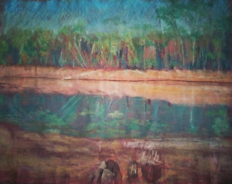 Original chalk pastel drawing size A3